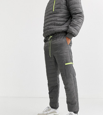Collusion quilted jogger in grey