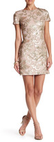 Dress the Population Embellished Sequin Short Sleeve Dress