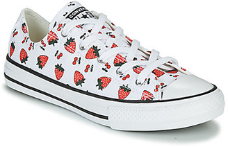 Converse CHUCK TAYLOR ALL STAR SPRING FRUITS girls's Shoes (Trainers) in White