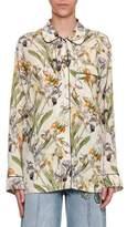 Alexander McQueen Wild Iris Pajama Shirt, Ivory