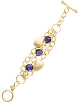 Rivka Friedman Triple Row Iolite Crystal Station Bracelet