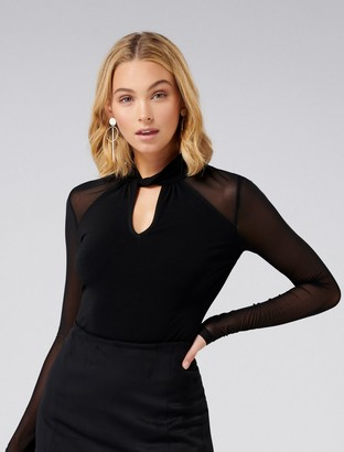 Ever New Ruby Twist Neck Key Hole PM Top
