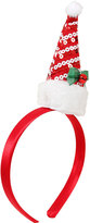 Yours Clothing Red & White Sequin Father Christmas Hat Headband