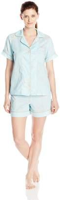 Bedhead Pajamas 2 PC Women's Short Sleeve Shorty Woven Pajama Set