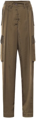 Dries Van Noten Satin cargo pants