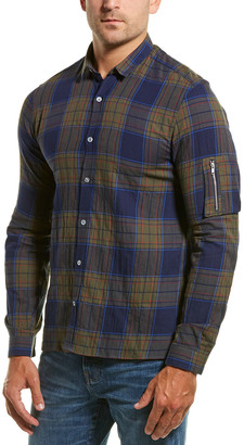 The Kooples Cougar Checks Fitted Woven Shirt