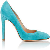 Gianvito Rossi WOMEN'S ROMA ROUND-TOE PUMPS-TURQUOISE SIZE 7