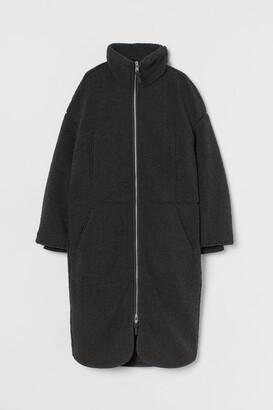 H&M Faux Shearling Coat - Gray