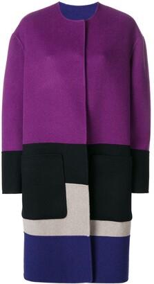 Bottega Veneta reversible colour block coat