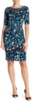 Ellen Tracy Printed Ponte Dress