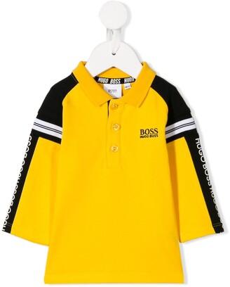 Boss Kids Logo Stripe Polo Shirt