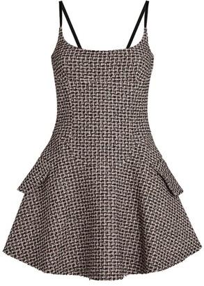 Alexander Wang Tweed Flare Mini Dress