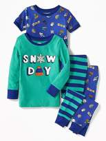 "Old Navy ""Snow Day"" 4-Piece Sleep Set for Toddler & Baby"
