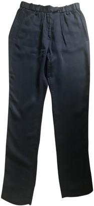 Etoile Isabel Marant Black Silk Trousers