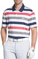 Izod Short Sleeve Stripe Knit Polo Shirt