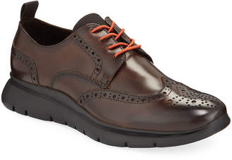 Kenneth Cole Men's Wing-Tip Leather Oxford Shoes