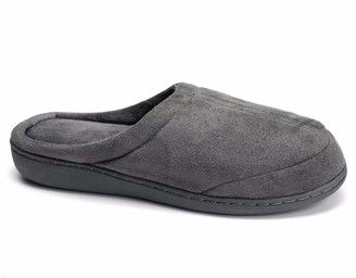 Desirable Time Indoor Slippers Warm Cotton Home Memory Foam Slip-on House Shoes Grey