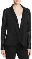 Lysse York Faux Leather Sleeve Knit Blazer