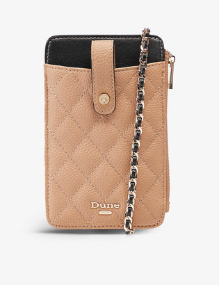 Dune Kimmy quilted phone holder purse