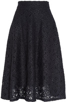 DKNY Guipure Lace Midi Skirt - Midnight blue