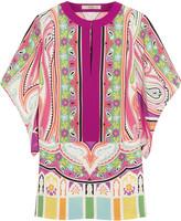 Etro Printed stretch-silk blouse