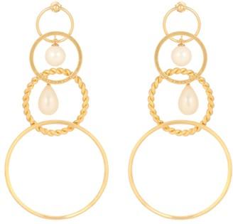 Y/Project Faux-pearl embellished earrings