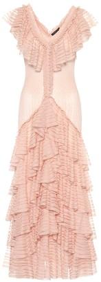 Alexander McQueen Engineered sheer silk dress