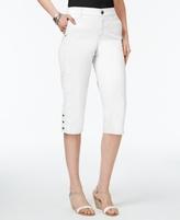 Style&Co. Style & Co Style & Co Petite Snap-Hem Capri Pants, Created for Macy's