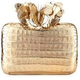 Nancy Gonzalez Butterfly Crocodile Box Clutch Bag, Champagne