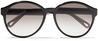 Chloé Round-frame Tortoiseshell Acetate Sunglasses