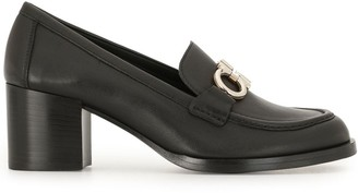 Salvatore Ferragamo Gancini buckle chunky heel loafers