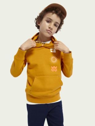 Scotch & Soda Cotton-blend hoodie with inner collar | Boys