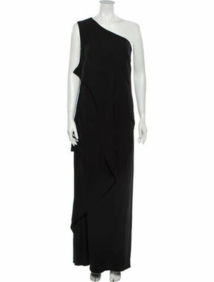 Vionnet One-Shoulder Long Dress w/ Tags Black