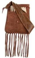 Henry Beguelin Suede Fringe Crossbody Bag
