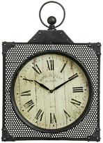Premier Housewares New York Loft Black Wall Clock