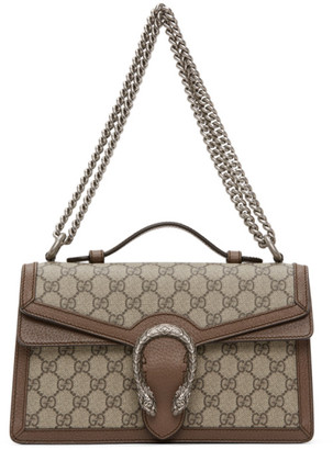 Gucci Beige GG Supreme Dionysus Top Handle Bag