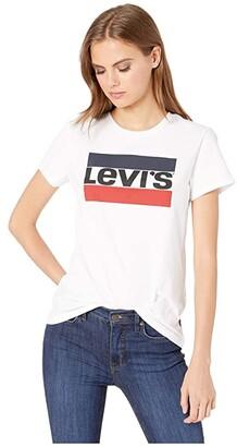 Levi's(r) Womens Perfect Graphic Tee (Sportswear Logo White) Women's T Shirt