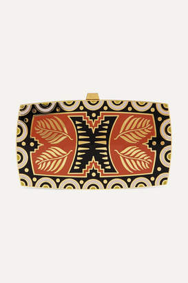 13bc 13BC - The Discovery Gold-tone And Enamel Clutch