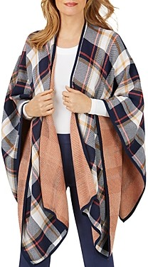 Foxcroft Walker Plaid Ruana