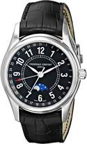 Frederique Constant Men's FC-330B6B6 Index Leather Strap Watch