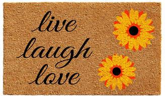 "Sunflower Live Laugh Love 24"" x 36"" Coir/Vinyl Doormat Bedding"