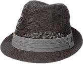 Haggar Men's Pattern Straw Fedora