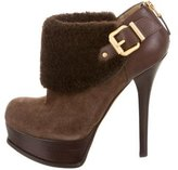 Fendi Shearling Platform Booties