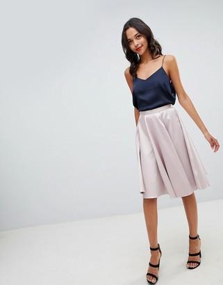 Closet London Sateen Midi Skirt