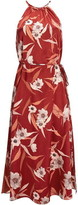 Ted Baker Sayana Red Cabana Halterneck Midi Dress