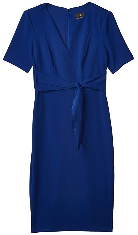 Adrianna Papell Knit Crepe Tie Sheath Dress Women's Dress