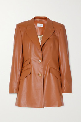 Nanushka Cancun Vegan Leather Blazer - Camel