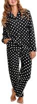 Angelina Black & White Dot Pajama Set - Plus