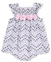 First Impressions Heart-Print Bubble Romper, Baby Girls (0-24 months)