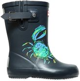 Hunter Crab Printed Rubber Rain Boots